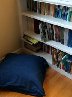 This is the children's book corner in our living room. Filled with my own children's favorites!