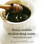 penn dutch proverb - honey