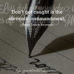 penn dutch proverb - commanment