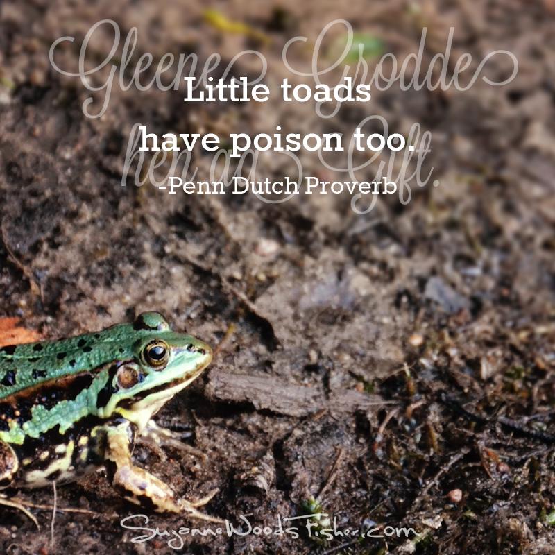 penn dutch proverb - toad