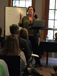 Author and speaker Kathi Lipp giving a fabulous workshop.